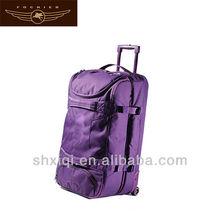 2014 lady purple trolley travel bag