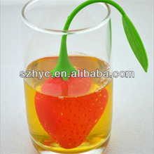 1pc Cute Fruit Strawberry Shape Silicone Tea Herbal Spices Leaf Infuser Strainer