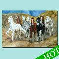 8 cavalos pintura/execução cavalo da pintura a óleo/cavalo da pintura a óleo
