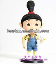 "Despicable Me 2 Movie Agnes Girl 17cm/7"" PVC Figure Animal Toys Loose"
