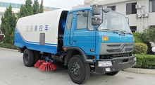 Efficient comfortable road sweeper truck
