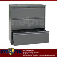 horizontal Diy extra wide used vintage industrial storage three drawer cabinet/dark grey wide 3 drawer lateral metal cabinet