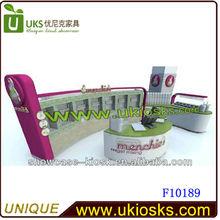 2014 fashion high quality design fast food kiosk juice kiosk furniture for sale