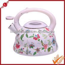 hot sale new flower porcelain whistling enamel kettle