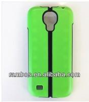 For Samsung Galaxy i9190 S4 mini Hybrid PC Silicone Rubber Stand Back Case Cover