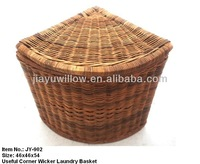 Honey Wicker corner baskets large