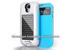 Solar Rechargeable Battery Case 2500Mah Capacity for Samsung S4 i9500