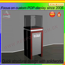 2014 China new design hot sale factory price POP modern glass display cabinet