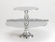 2 Tier Aluminium/Steel Cake Stand with New Look Finish