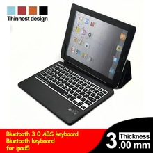 Smart PU Leather Case for iPad Air ABS Keyboard with Case For iPad 5 Black White Blue Red