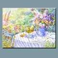 lona de arte da parede pintura a óleo abstrata moderna decoração pintados à mão vaso de flores
