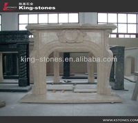 high quality indoor used marble fireplace