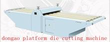 platform die-cutting machine/semi auto die cutting machine