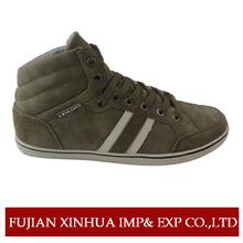Brand high top genuine men leather sneakers