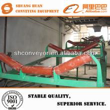 Steel belt conveyor trough roller with painting frame