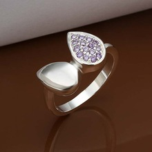 Pure color party silver ring design for girls to have party