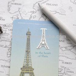 mini Metal Bookmark France Paris Eiffel Tower Travel Souvenir French Decoration