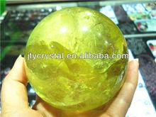 decoration citrine quartz crystal ball for sale