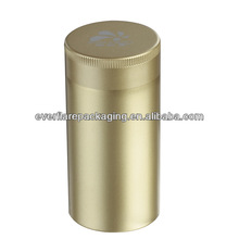 aluminum cosmetic cream/coffee/tea jar/can with screw cap