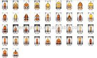wholesale high flint glass bottles for whisky, brandy, vodka, tequila, rum