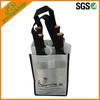 Eco OEM Non Woven 4 Bottle Wine Tote Bag