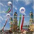 Impresso inflável balões do vôo com bandeira