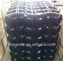 90 degree long radius A234 WPB galvanized steel elbow