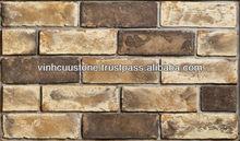 Stone Vietnam cladding stone exterior and interior stone brick wall tile 190x60x10 mm