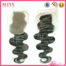 wholesale cheap remy brazilian silk top lace front closure piece