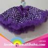 Small size white polka dots and purple prints vivilina pettiskirt