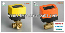 Controlling the flow of hot and chill water in heating ,cooling or air condition applications as to control room temperature ind