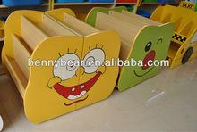 Kindergarten Wooden Furniture Children Cartoon Design Bookcase