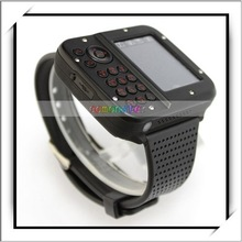 MP3/MP4/Bluetooth/FM Watch Mobile Phone Black