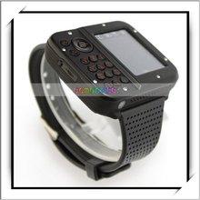MP3/MP4/Bluetooth/FM Watch Mobile Phone Black