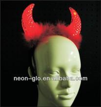 LED light up pevil horn with fur