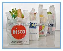 Hot Sale HDPE LDPE printing t-shirt shopping bag