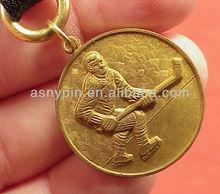 gold brass 3D hockey key holder