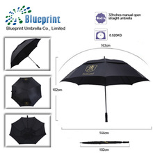 32 inch promotion double layers large vented advertising golf & outdoor umbrella