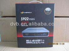 Azamerica S922 Mini hd satellite receiver iks free sks twin tuner nagra 3 decoder