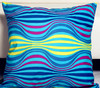 Unique pattern transfer printed custom soft cushion cover