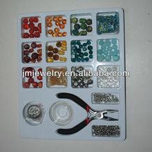 Variety Jewelry Making Bead Kit Bead Book,Lampwork,Crystal,Gemstones,Findings