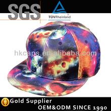 Custom flat bill floral star blank snapback cap hat