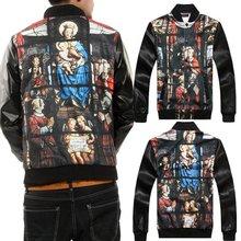 Wholesale long sleeves fashion leather coat