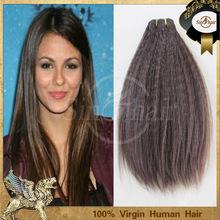 Cheap remy peruvian vigin humankinky straight hair