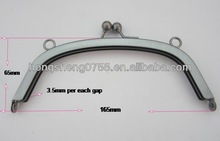 Good quality metal hinged purse frame, purse hinges with kiss closure