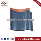 blue terracotta spanish S clay roof tile