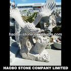 Garden Life Size Granite Eagle Sculpture For Sale