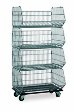 Top quality foldable stackable warehouse cages(RHB-SP019)