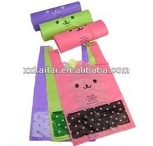colorful strong supermarket vest shopping plastic bag