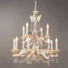 UL luxury modern pendant crystal chandelier ceiling lamp